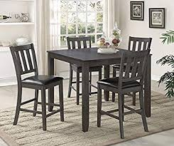 Image Unavailable. not available for. Color: Crown Mark Cosgrove 5pc Counter Height Dining Set Amazon.com -