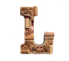 wine cork letter by the country barrel via