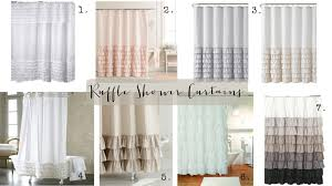 white ruffle shower curtain. Ruffle Shower Curtain White N