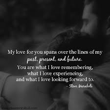 "My Love Quotes Beauteous Quote By Steve Maraboli ""My Love For You Spans Over The Lines Of My"