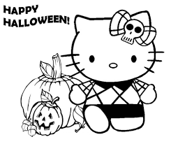Gratuit Halloween Hello Kitty Coloriage Halloween Coloriages
