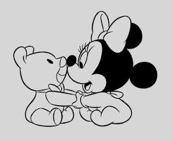 Disegni Da Colorare Minnie Piccola Disegno Di Minnie E Topolino Baby