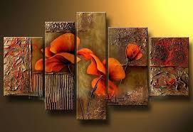 quality large wall canvas art flower oil paintings