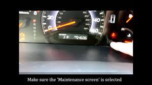 2011 Honda Odyssey Tpms Light Reset How To Reset The Maintenance Light On A 2005 2010 Honda Odyssey Or Accord