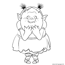 Ugly Bridget From Bergens Trolls Coloring
