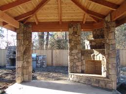 outdoor fireplace and outdoor kitchen corner fireplace under covered patio brownbrosmasonry net