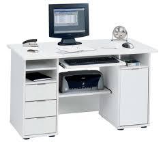 white computer desk with storage white metal shelf wooden office cabinet chocolate wooden laminate floor modern
