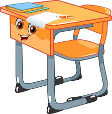 school desk and chair clipart. Delighful Desk School Desk And A Chair Stock Vector  76082451 Intended Desk And Chair Clipart