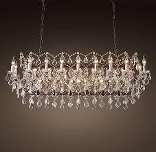 rococo chandelier beautiful 19th c rococo iron clear crystal rectangular chandelier