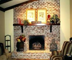 whitewashed brick before and after whitewash brick fireplaces fireplace white washed faux wall walls bricks and