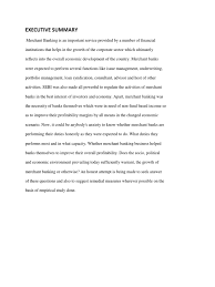 Executive Summary Banks Syndicated Loan