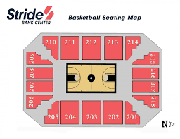 Independence Events Center Detailed Seating Chart Stride Bank Center Seating Chart Stride Bank Center