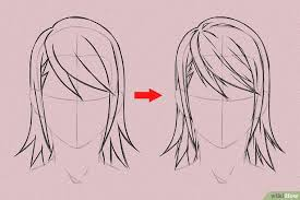 Drawing anime may appear difficult at first, but there are different techniques making the character drawing an easy and fun game. 6 Ways To Draw Anime Hair Wikihow How To Draw Anime Hair How To Draw Hair Ponytail Drawing