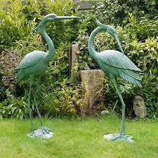garden sculpture. Large Aluminium Heron Garden Sculptures Sculpture R