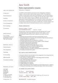 Sales Marketing Cv 41 Printable Inside Sales Representative Resume Example