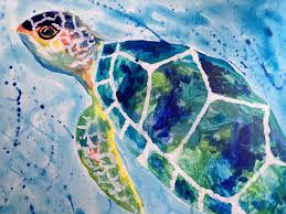 under the sea turtle painting party