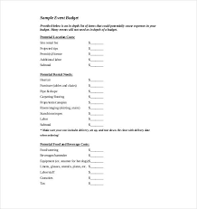 Event Budget Sample 10 Event Budget Templates Word Excel Pdf Templates Www