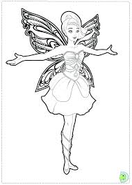 Coloring Pages Barbie Mariposa Fairy Princess Coloring Pages