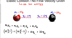 perfect elastic collision no final velocity given