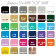 Dove Grey Colour Chart Wall Sticker Colours And Personalised Decal Fonts