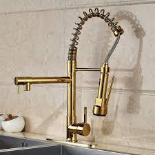 Kitchen Pull Down Faucet Venezuela Gold Finish Kitchen Sink Faucet With Pull Down Faucet