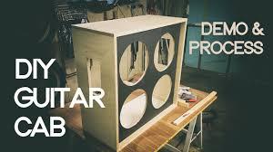 diy 4x12 guitar cab process demo 2017 hd