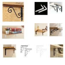 2pcs wall mounted shelf brackets l