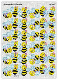 Details About 72 Buzzing Bumblebees Sparkle Kids Reward Stickers For Progress Charts