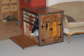 wood crate furniture diy. Excellent Idea Dog Kennels That Look Like Furniture Ana White Welded And Wood Crate Kennel DIY Diy