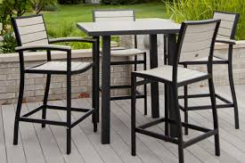 Furniture Traditional Bar Height Patio Set For Stylish And
