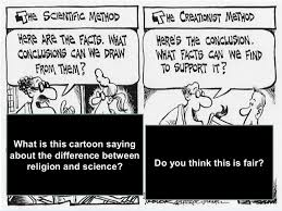 science vs religion ocr exam board what is this cartoon saying about the difference between religion and science