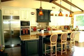 Angled Kitchen Island Peninsula Design Ideas With Plus Picture