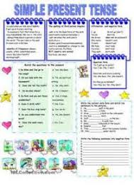 Write the Present Tense of Verb   Activity   Worksheets