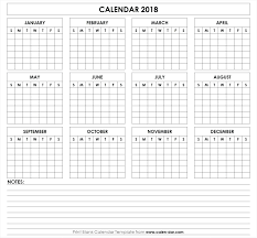Printable Bill Calendars 2018 | Calendario Pis