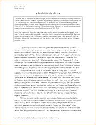 Example Of A Research Paper Apa Style Literature Review Template