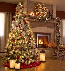 Fairfax Lighted Decorated Christmas Tree with Flocking, 9'H   Collection  Accessories