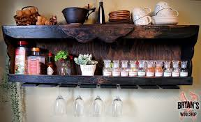 pallet wine glass rack. Wonderful Pallet Picture Of DIY Wood Spice Rack With A Pallet Wine Glass Holder Inside