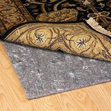 are natural rubber rug pads safe for hardwood floors duo lock reversible felt and non slip