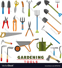 Farm Tools Isolated Icons Of Farm Gardening Tools