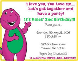 barney party invitation template ebluejay barney and friends birthday party invitations