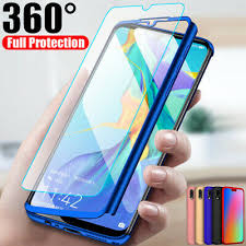 360° Full Cover Case + <b>Tempered Glass For Huawei</b> P9 P10 P20 ...