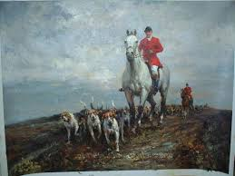 hunting scene oil painting 02