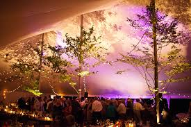 wedding tent lighting ideas. Bistro Lights Add Sparkle To This Tent Color Is From LED Pars Focused On Band Pinterest Tents And Weddings Wedding Lighting Ideas