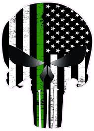 After killing the sinister six and the green goblin, he ultimately retires the. Skull Thin Green Military Line Subdued Decal Nostalgia Decals Online