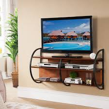Posh Flat Screen Together With Decor For Tv Floating Tv Stands Remodel  Along With Wallmounted Wooden