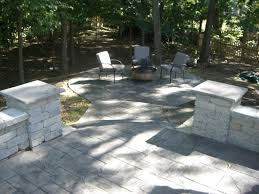 Stamped concrete patio with stairs Back Yard Raised Stamped Concrete Patio With Paver Columns And Steps Angies List Atlantis Concrete And Construction Llc Photo Gallery