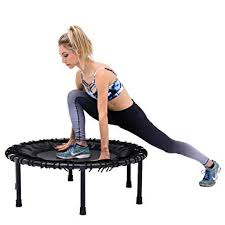 Rebounder Comparison Chart Skybound Nimbus Rebounder Fitness Trampoline W 60 Min Calorie Burning Bounce Class Video 250lbs Limit Perfect For In Home Cardio Workout Exercise