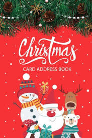 How To Address A Christmas Card Christmas Card Address Book Christmas Card List Address Book Tracker For Holiday Christmas Cards You Send And Receive Six Year Address Book