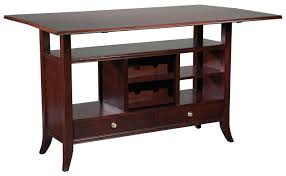 Fairfield Tables Flip Top Wine Rack Console Table with Open Storage
