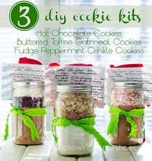 3 diy cookie mix kits and free printables from rachellacy following in my shoes